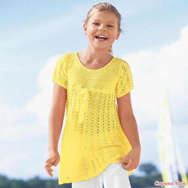 Вязание для девочки 10 лет на лето