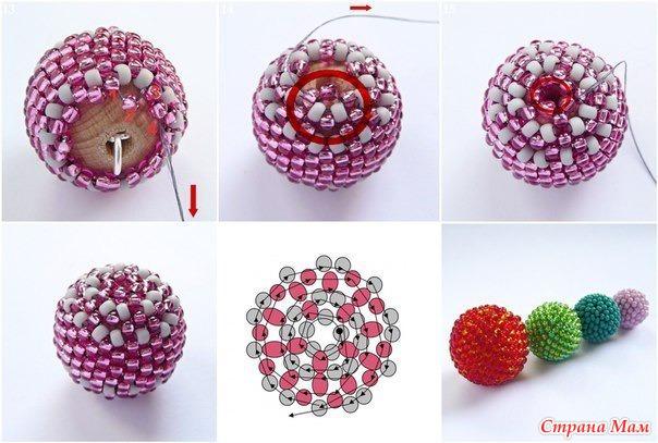 Как сделать сережки из бисера шарики