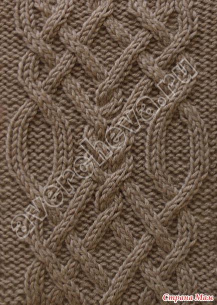 узоры спицами плетенка ирландские узоры