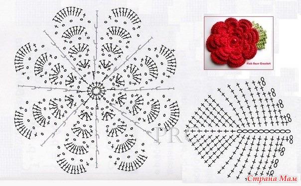 Схема связать цветок