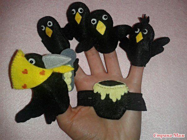 Игрушка ворону своими руками