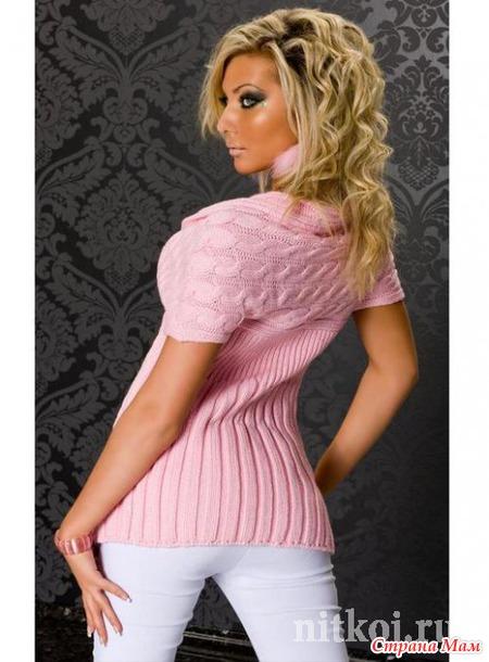 Вязание розовой жилетки