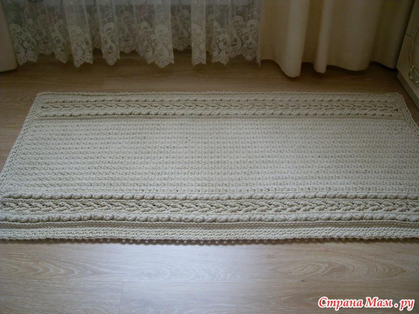Вязание покрывала из шнура 18