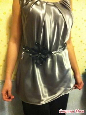 Блузка из атласа своими руками для девочки