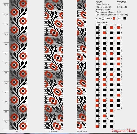 схему плетения браслета и