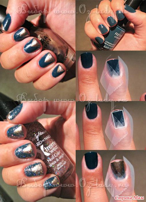 Простые рисунки на ногтях в домашних условиях фото пошагово