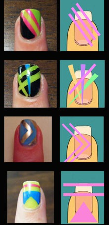 Как использовать ленты для дизайна ногтей