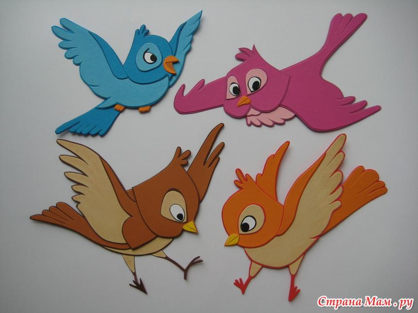 Поделки из бумаги и картона птицы