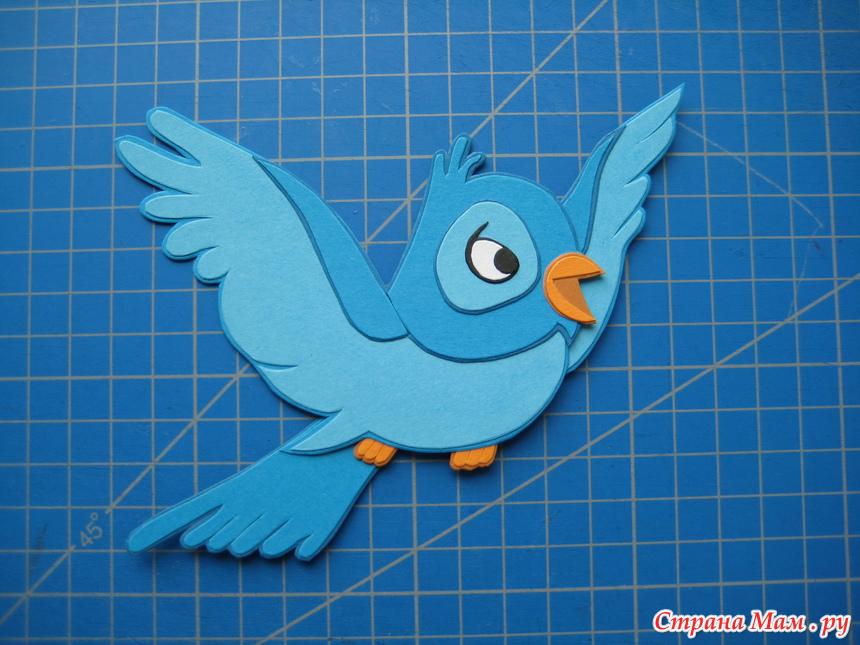 Аппликация из бумаги птиц своими руками