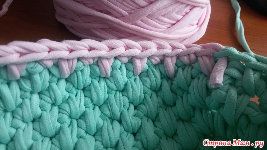 Вязание нитками лентами 43