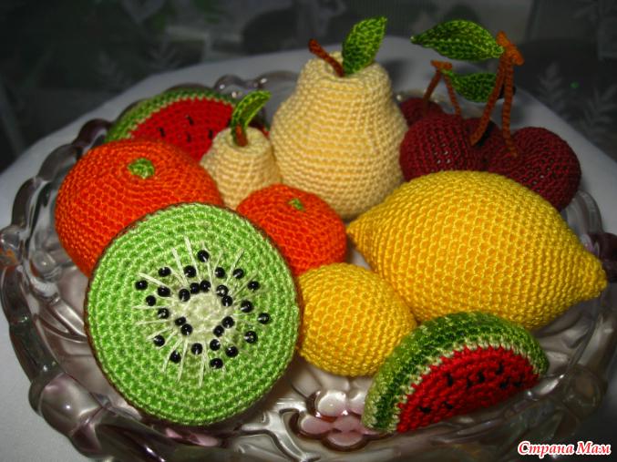 Вязание крючок вязаные фрукты 82