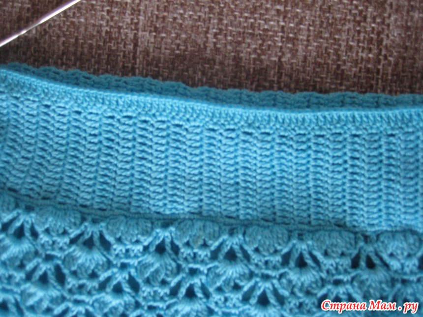 Как вязать на юбку резинку крючком