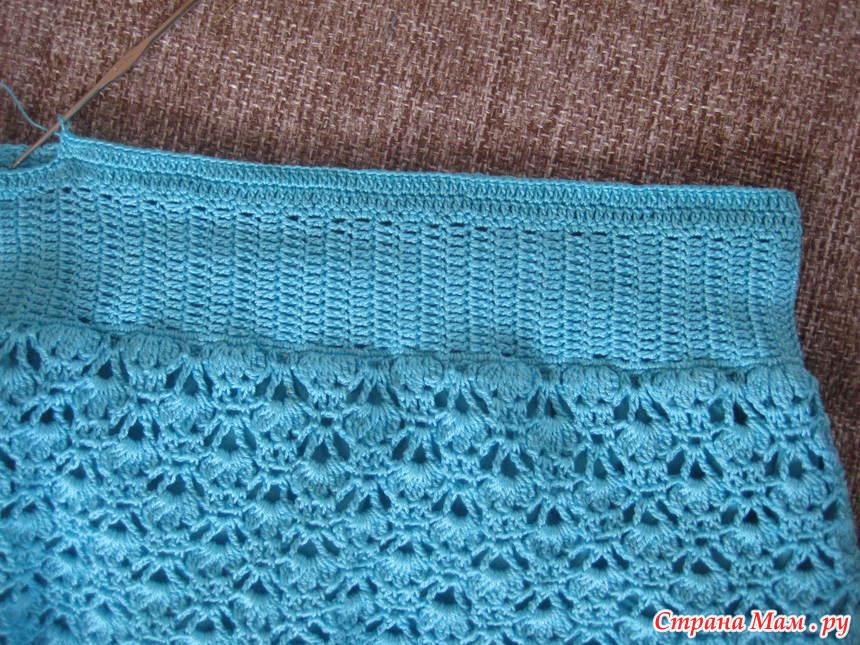 Резинка в юбке вязание 791