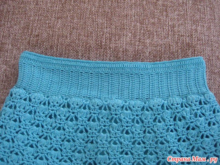 Вязание пояс для юбки 149