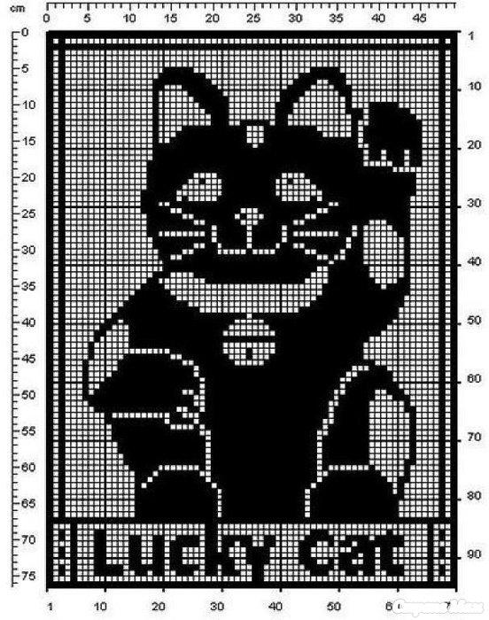 Схемы кошек для вязания и