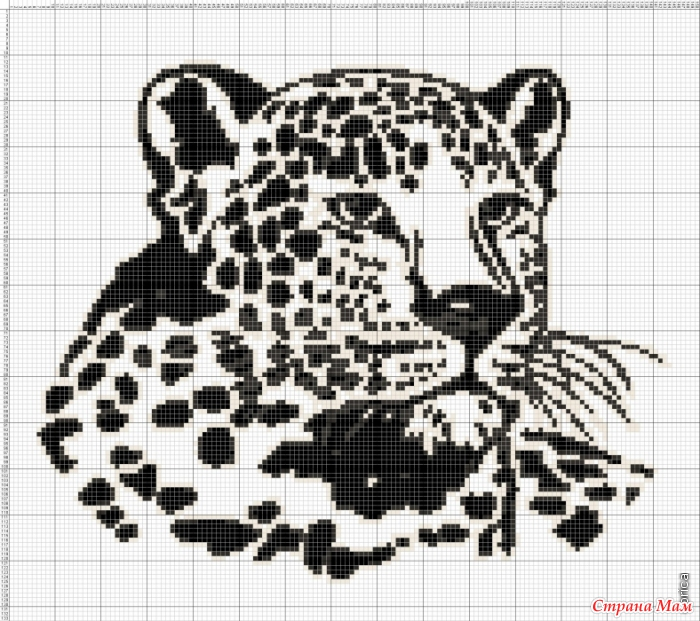 Леопард из бумаги схемы