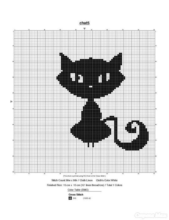 Схема для вязания коты