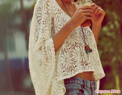 Пуловер в стиле Бохо с подборкой схем и небольшим описанием от меня.