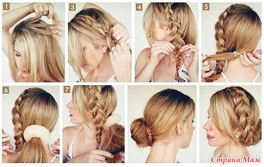 Прически для волос средней длины в домашних условиях пошагово в