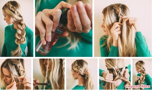 Интересные прически в школу на длинные волосы