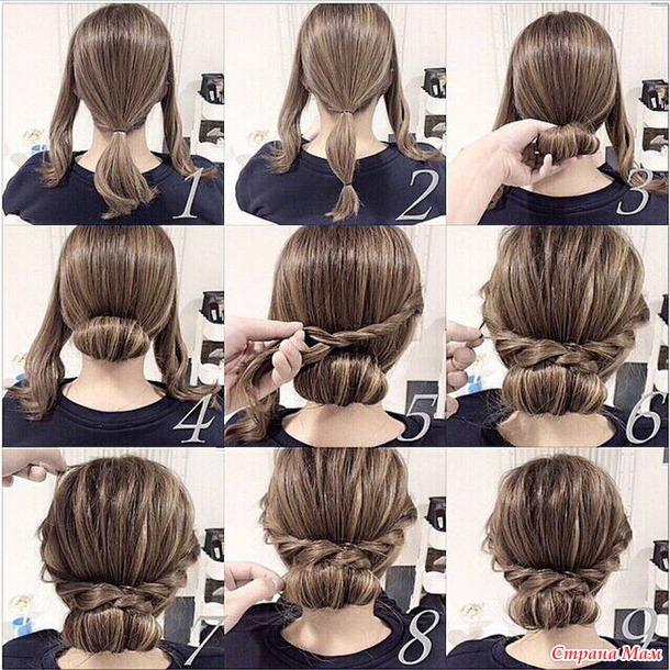 Прическа в домашних условиях своими руками на длинные волосы
