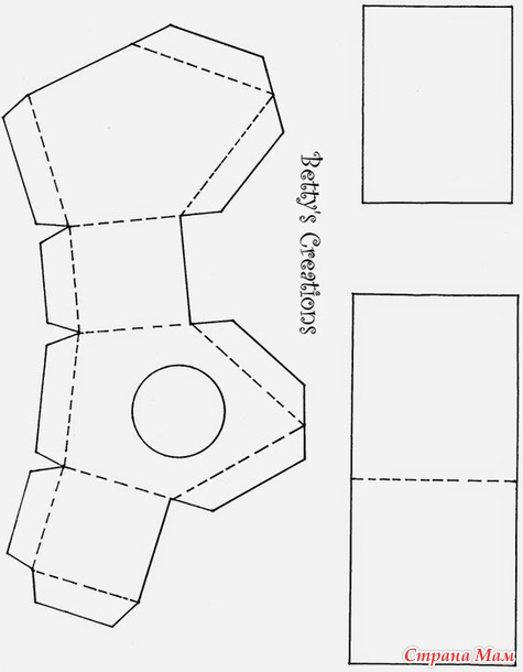 Коробочка-домик  шаблоны