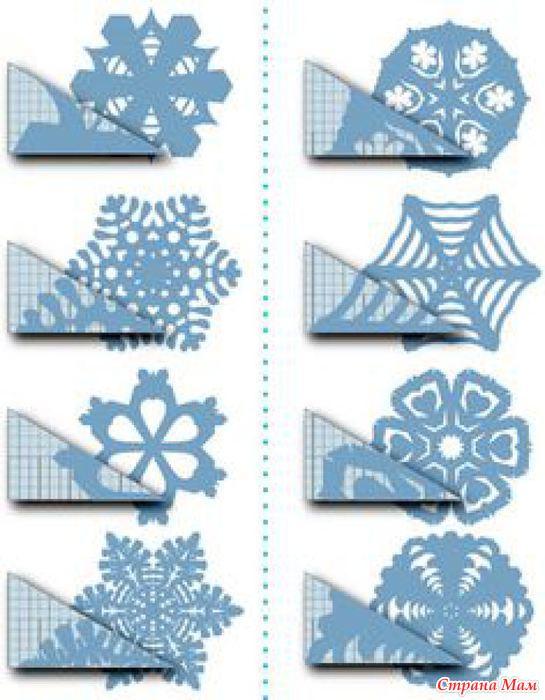 Много схем для создания восхитительных снежинок из бумаги - Страна Мам
