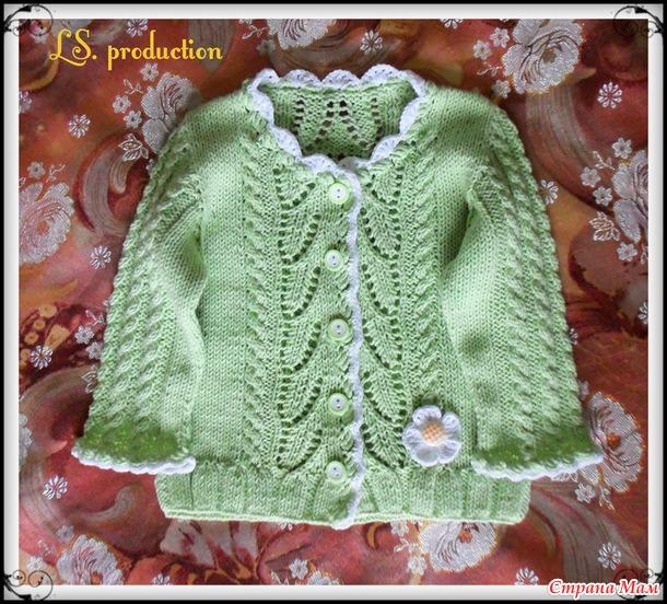 Страна мам вязание спицами жакет для девочек