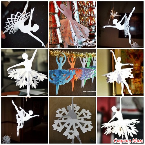 Снежинки лохматые своими руками