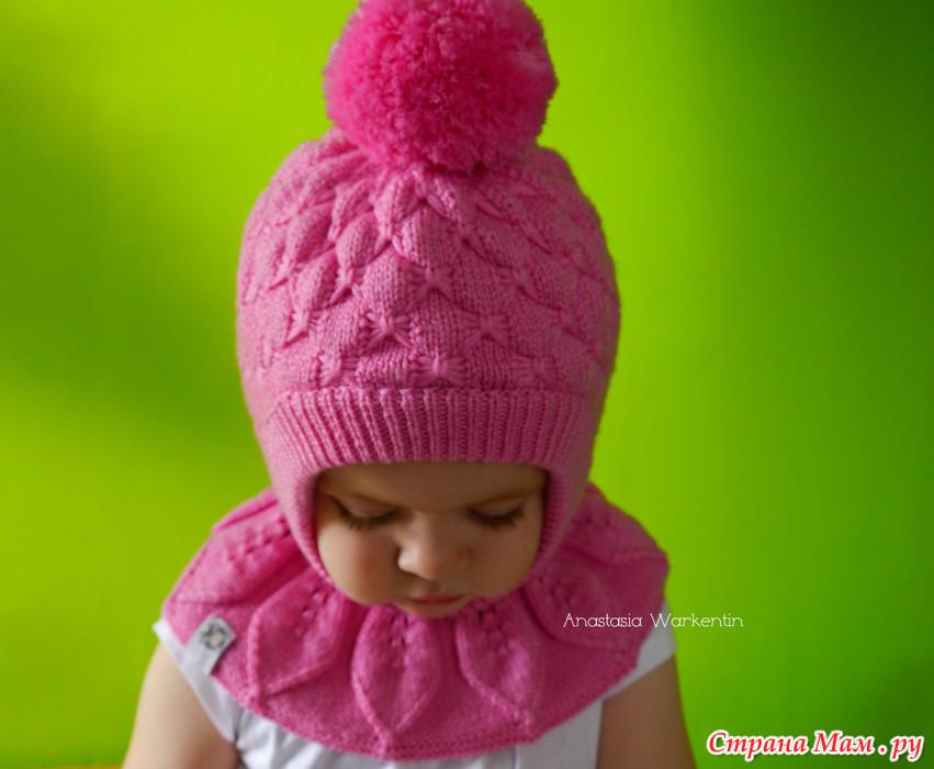 Как связать шапочку на девочку от 3 месяцев