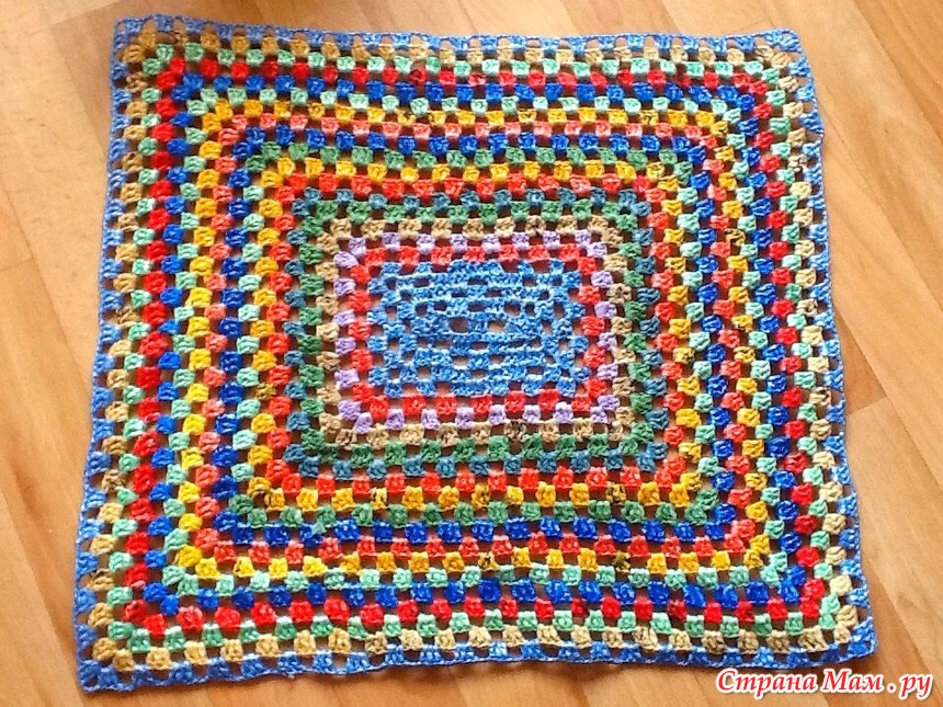 Вязание коврика из пакетов 75