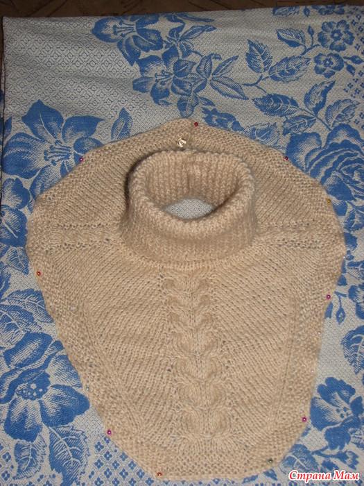 Манишка на пуговицах вязание 17