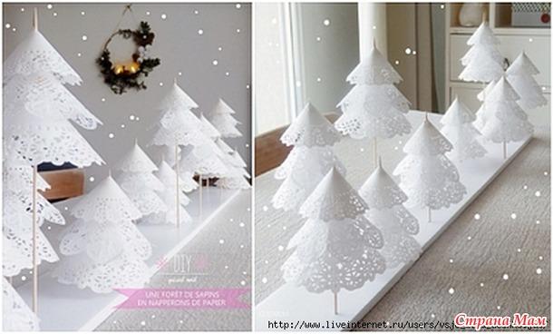 Как сделать елку из белой бумаги своими руками