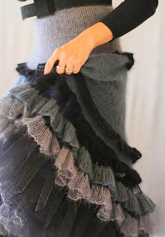 Вязание спицами из мохера юбок