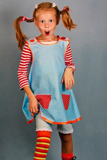 Новогодний костюм пеппи для девочки своими руками