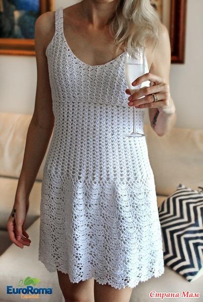 Летнее ажурное платье Патрисия.