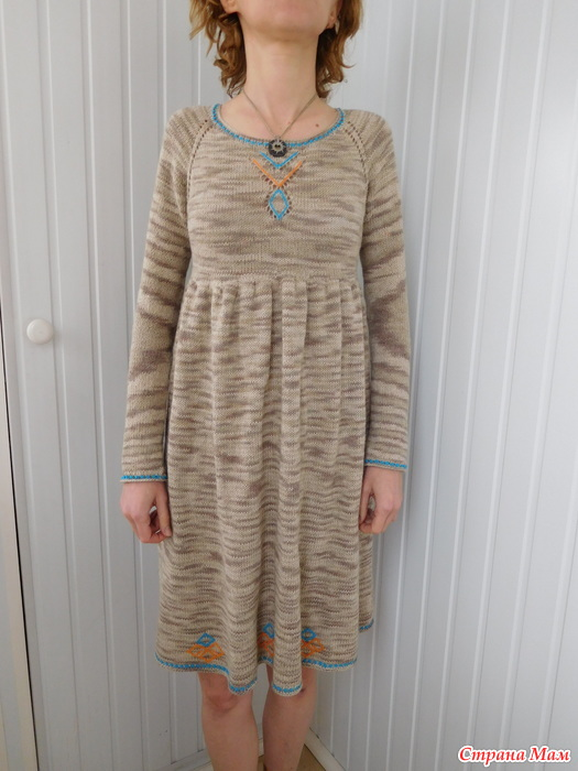 Постирала льняное платье