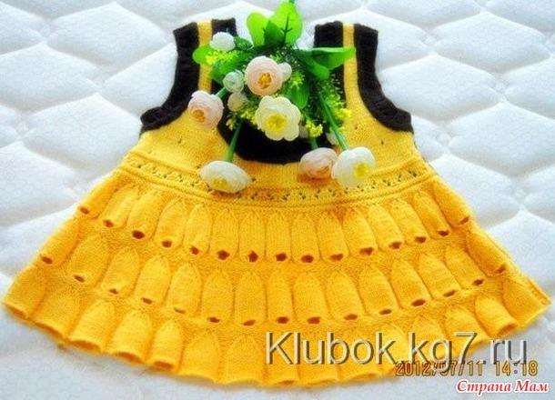 Вязание для девочке колокольчик юбка