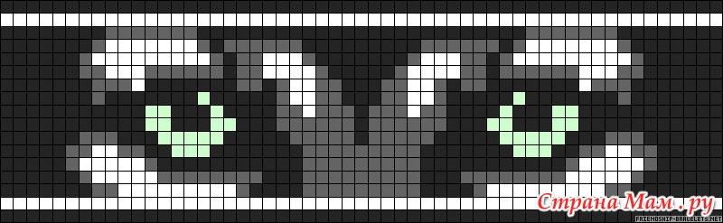 Схемы прямого плетения волк