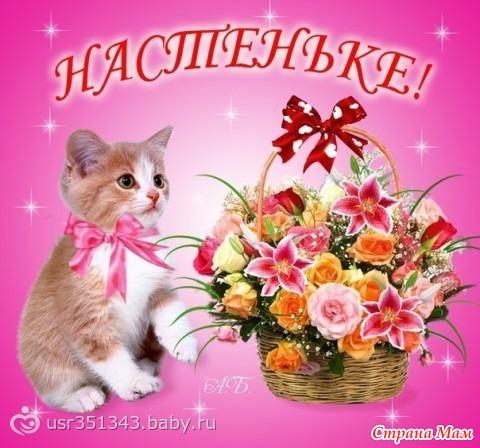 Поздравление днем рождения настеньки