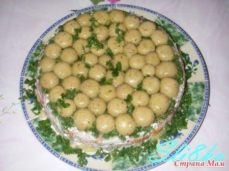 Грибы на поляне салат фото