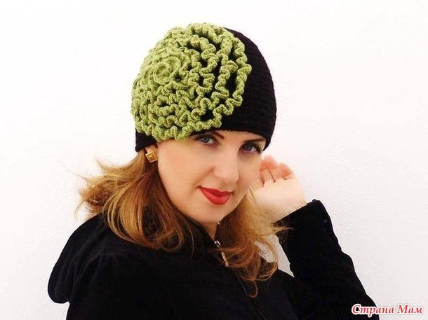 Вязание цветы для шапок