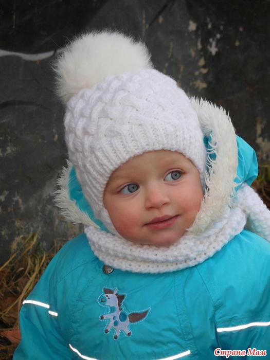 Вязание шапки плетенки 3х3