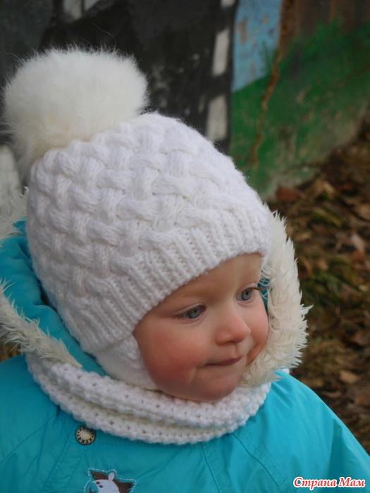 Детские шапочки образцы вязания 47