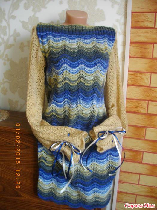 Вязание из пряжи зигзаг