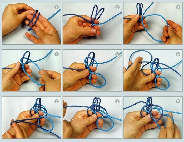 Как вязать бабочку узел