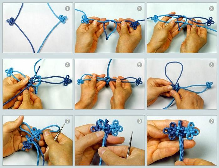 узлы макраме плетенка