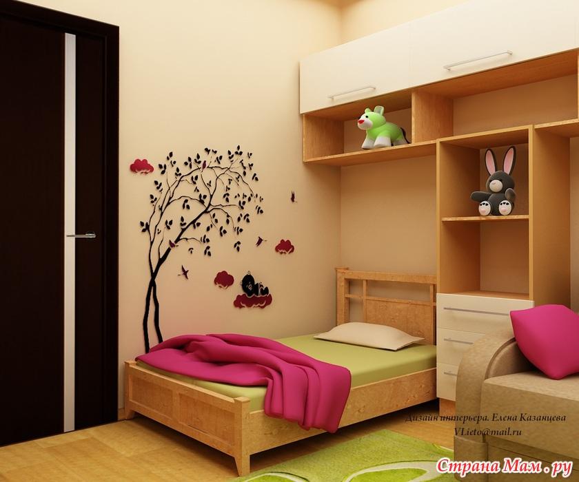 Дизайн детской комнаты 2 года