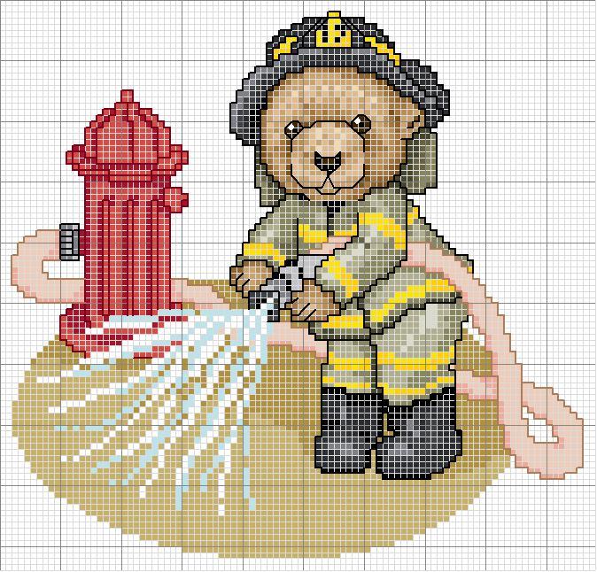 Пожарной машины вышивка