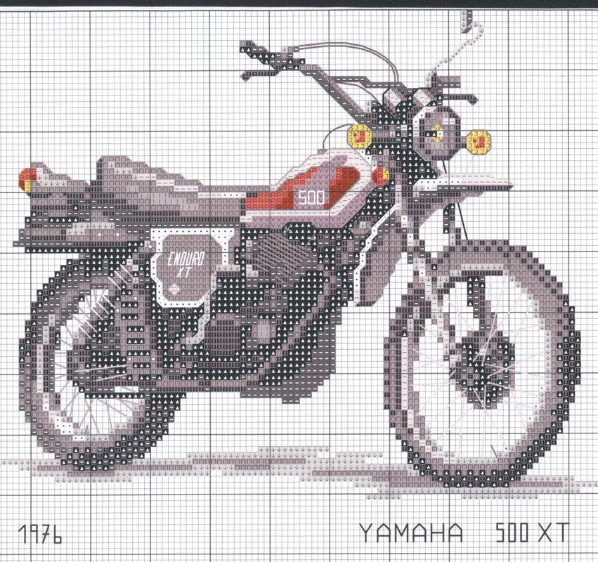 Схемы вышивки крестом мотоцикл
